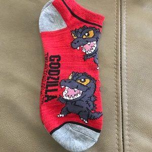 Godzilla Ankle Socks Brand New
